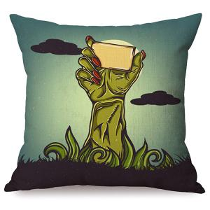 Durable Halloween Hand Sofa Cushion Printed Pillow Case
