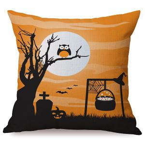 Durable Halloween Owl Sofa Cushion Printed Pillow Case - Colormix - 45*45cm