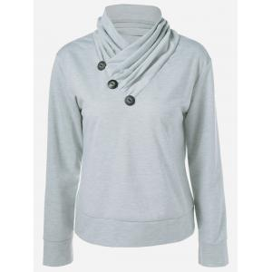 Inclined Button Sweatshirt
