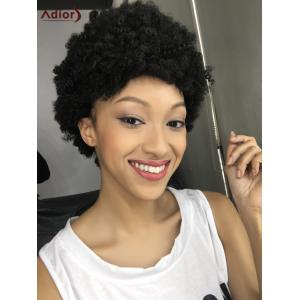 Spiffy Short Curly Synthetic Capless Wig