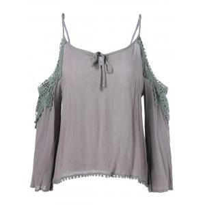 Cut Out Openwork Blouse