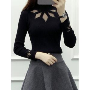 Cut Out Rhinestone Design Knitwear