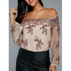 Sequin Embellished Off The Shoulder Bodysuit