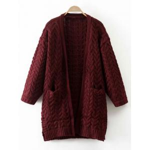 Cable Knit Thickening Cardigan