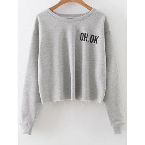 Dropped Shoulder Graphic Crop Sweatshirt