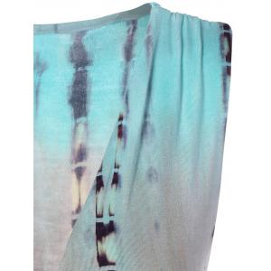 High Slit Tie-Dyed Asymmetric Dress -