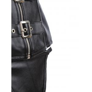 Leather Zipped Buckled Corset -