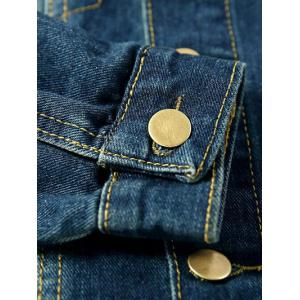 Mock Pocket Design Button Up Denim Jacket -