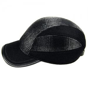 Outdoor Concealed Plaid Pattern Earmuff Design Baseball Hat -