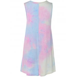 Tie-Dyed Mini Swing Dress -