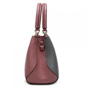Metal Color Spliced Stitching Tote Bag -