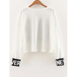 Dropped Shoulder Graphic Sweatshirt -
