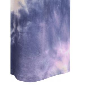 Loose Tie-Dyed T-Shirt Dress - COLORMIX XL