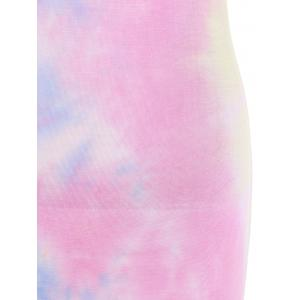 Slim Tie-Dyed High Slit Maxi Dress -