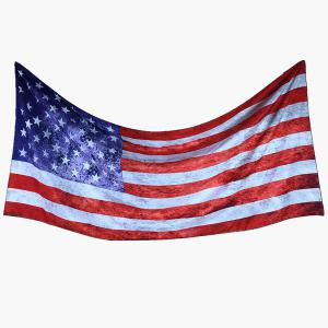 American Flag Rectangle Scarf - RED