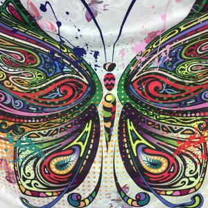 Colorful Butterfly Rectangle Scarf -