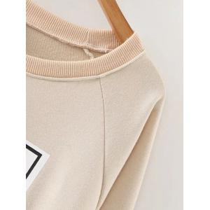 Crew Neck Relaxed Fit Pullover Sweashirt -