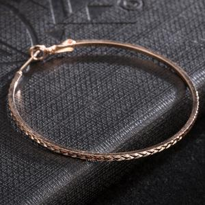 Vintage Circle Hoop Earrings - ROSE GOLD