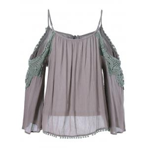 Cut Out Openwork Blouse - ARMY GREEN ONE SIZE