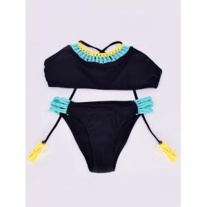 Hollow Out Criss Cross Bikini Set -