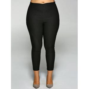 Zippered Plus Size Pants -