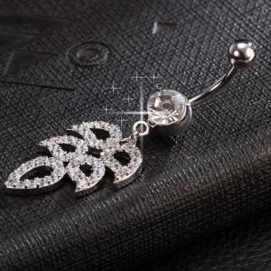 Layered Rhinestone Wings Navel Button -