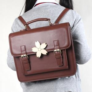 Retro Sakura Embellished Satchel Bag -
