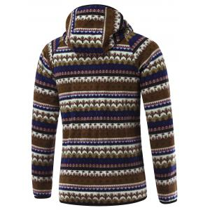 Tribal Imprimer Raglan à capuche Zip Up Jacket -