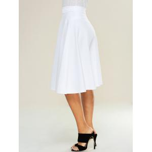 High Waist Zipped A Line Skirt -