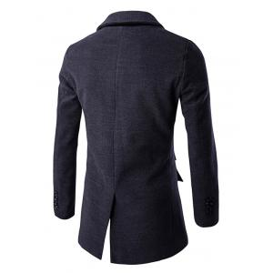 Back Vent Lapel Single Breasted Coat -