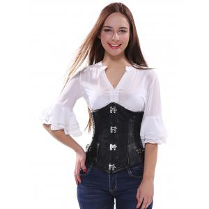 Retro Style Steampunk Alloy Buckle Lace-Up Corset -