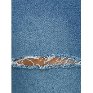 Pocket Design Ripped Pencil Jeans - LIGHT BLUE XL