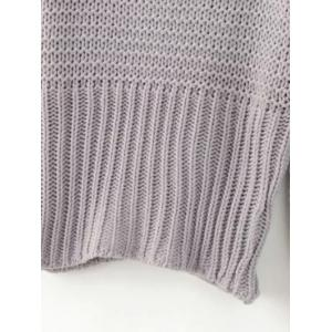 Cap Sleeves Ribbed Sweater -