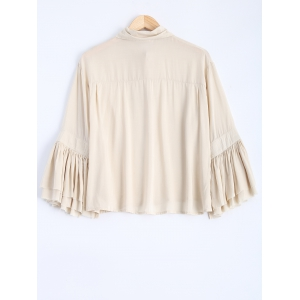 Loose Fitting Bell Sleeve Blouse -