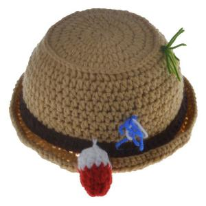 2PCS Infant Crochet Bucket Hat Photographie Tenues -