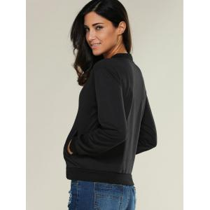 Zipper Design Bomber Jacket -