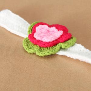 2PCS Infant Crochet Flower Heaband Photography Outfits -