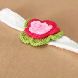 3PCS Infant Crochet Fleur Hat Photographie Tenues -