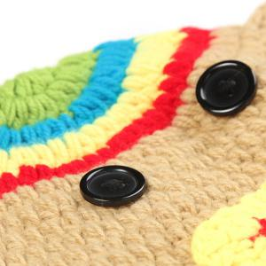 Crochet Pendant Hat Newborn Baby Photography Clothes Set -