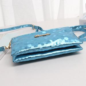 Stone Pattern Multi Zips PU Leather Clutch Bag -