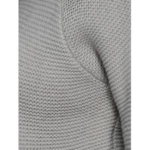 Cut Out Sleeve Knitted Sweater -
