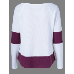 Raglan Sleeve Ribbed Blouse -