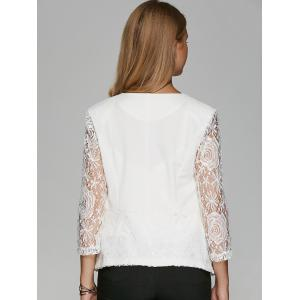 One Button Lace Sleeve Blazer -