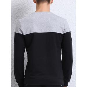 Contrast Insert Long Sleeve Crew Neck Sweatshirt -