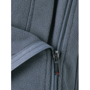 Zipper Up Vertical Pockets Fleece Jacket -