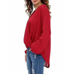 Draped Front Chiffon Top -