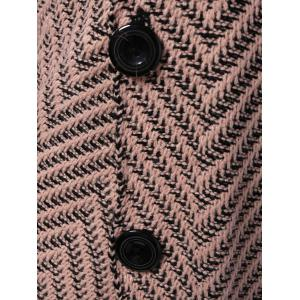 Turtleneck Long Sleeves Button Cardigan -