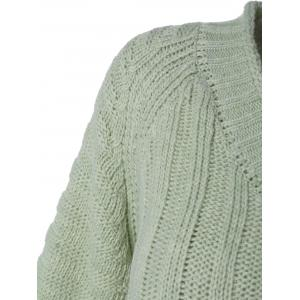 Cable Knit V Neck Sweater -