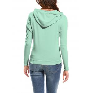 Candy Color Hooded Long Sleeve Hoodie -