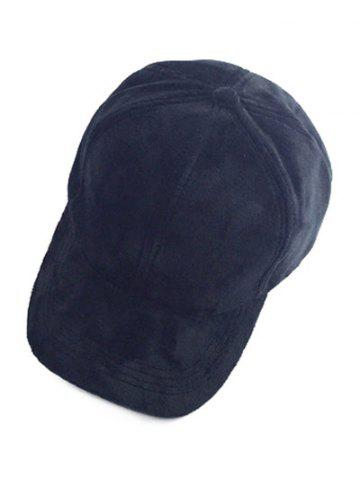 Fancy Casual Faux Suede Baseball Cap